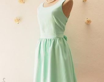 Mint Green Dress Mint Party Dress Mint Summer Dress Mint Green Bridesmaid Dress Party Dress Wedding Bridal Shower Dress -Size XS-XL, Custom