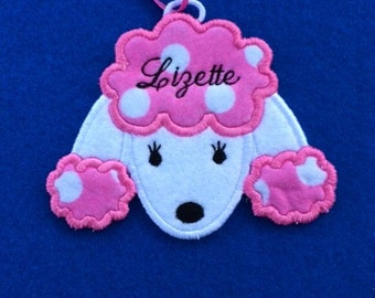 Personalized Poodle Dog Ornament or Gift Tag