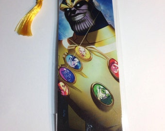 Upcycled Thanos Comic Book Bookmark