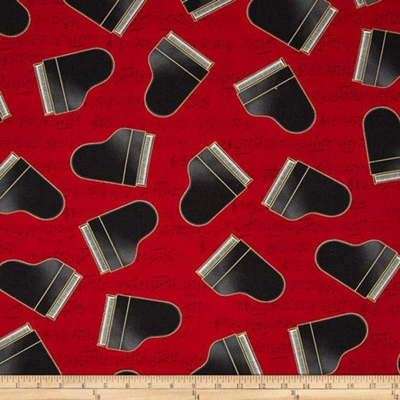 Piano Intune By Robert Kaufman Music Fabric Instrument
