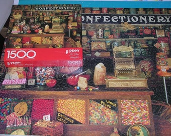 Vintage Springbok Jigsaw Puzzle A Penny For Your Thoughts Complete 1500 Pieces PZL9000