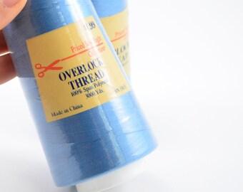 3000 yd Dusty Blue Thread - Polyester Thread - Sewing Serger Thread Spools - Overlock thread - Thread Sewing Machine - Thread cones