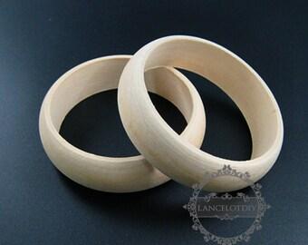 5pcs 22mm width 68mm diameter natural log wood round simple bracelet bangle DIY painting bracelet supplies 1900117
