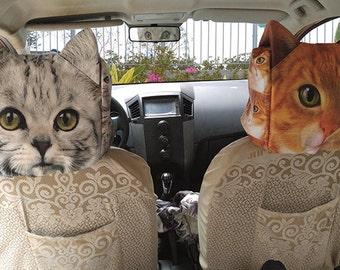 Car headrest cover, cat headrest cover, pet headrest cover, HR-805