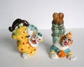 Vintage Yona Original Ceramic Clown Salt and Pepper Shakers 1957
