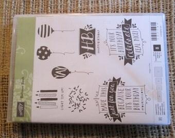 BALLOON BASH - Stampin' Up retired - Stamp Set