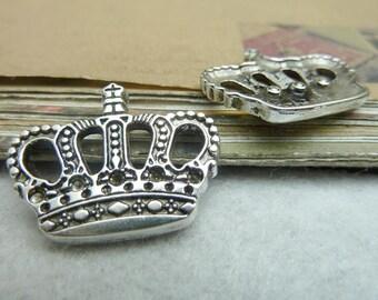 20pcs 22*27mm antique silver crown charms pendant C7246
