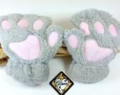 Fur Cat Paw Fingerless Gloves-Cat Gloves-Lolita-Neko-Cat Accessories-Winter Wrist Warmers-Cosplay-Christmas Gift-Winter Gloves