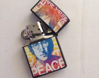 The Beatles lighter, pop art lighter, peace lighter, music lighter, Beatles collectable, John Lennon lighter, imagine lighter, sale
