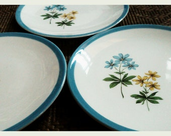 Dessert Plates - American Vintage, Homer Laughlin Color Harmony set of 3