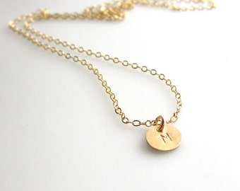 100 % 14K Solid Yellow Gold Initial Necklace, Tiny 14Kt Gold Initial Necklace, 14K Solid Gold Initial Necklace, Able Heart, Oval and Cross