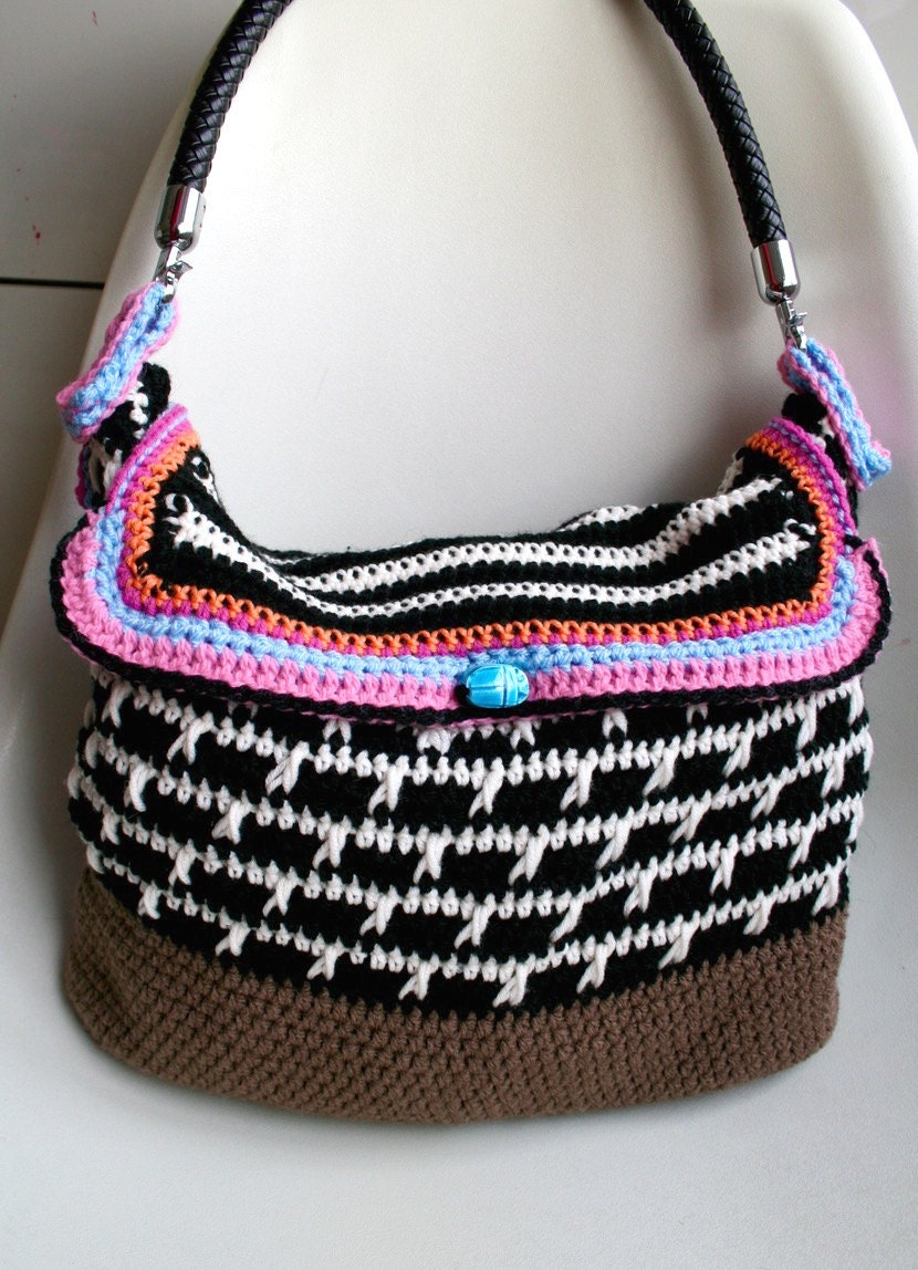 Crochet pattern crochet boho bag pattern purse by LuzPatterns