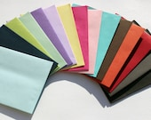 25 Colored Envelopes A6 Square Flap, Invite Env 4x6, Orange Envelopes, Purple Envelope, Teal Envelope, Black, Navy, Red, Pink, Green (A6)