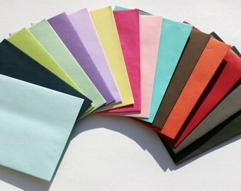 "Colored Envelopes 4"" x 6"" - A6 - Straight Edge - Self Sealing - Invite Mailer - Baby Shower - Bridal Stationery - Paper Goods & Supplies"