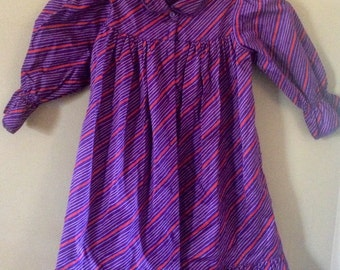 Vintage purple striped dress 2t