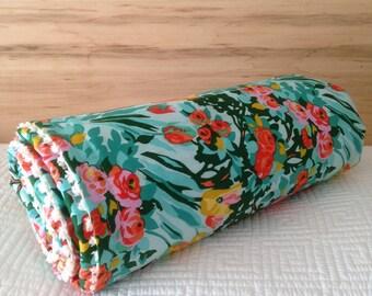 Baby Crib Travel Stroller Blanket Modern Bright Summer Floral