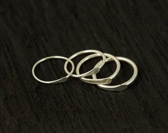 Sterling Silver Nose ring / Cartilage hoop/ tragus hoop/ single hammered hoop