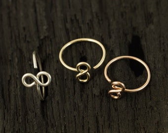 Infinity nose hoop/ nose ring / tragus earring