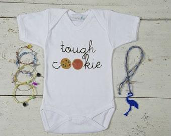 Baby Cookie Onesie, Tough Cookie Baby, Sweet Bodysuit,Newborn Onesie,Baby Bodysuit, Baby Shower Gift+BRACELET GIVE AWAY