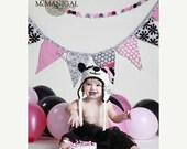 SALE Baby Panda Bear Earflap Hat - Crochet Newborn Beanie Boy Girl Costume Winter  Photo Prop Cap Christmas Outfit