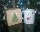 Christmas Tree Gift Box , Mug Box, Made to Order, Christmas, Thank You gift Box