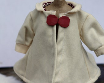 18 inch doll clothes, doll coat, waldorf doll clothes doll jacket, winter wool waldorf coat white doll coat, wool doll coat, doll clothes