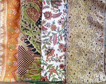 Silk Fat Quarters, Silk Fabric, Sari Silk FQ64