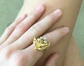 Vintage Gold and Stone Ring
