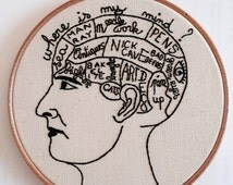 PHRENOLOGY HEAD to CUSTOMISE Embroidery Kit