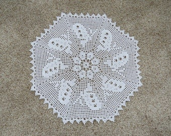 Swarm of Butterflies Crocheted Doily