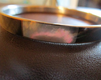 Abalone / shell Phillipine handmade silver bangle bracelet