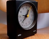 Vintage Braun AB 30s Alarm Clock 4853 LUBS Dieter Rams 1983 | Rare variant! Black with Silver Dial