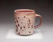 textured purple glazed ceramic pottery tea cup