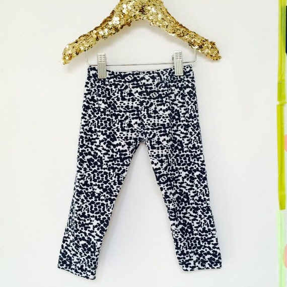 1-2 Years Kids Soft Stretchy Leggings Pants Toddler Trousers Sweat Pants in Upcycled Cotton Jersey Unisex