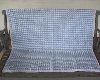 Baby,Babies,Boy,Boys,Infant,Infants,Photo,Blanket,Shower,Gift,Blue,White,Crocheted