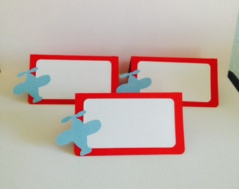 Airplane ~ Name Cards ~ Food Tents ~ Place Cards ~ Airplane Party