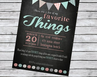 Favorite Things Party Invite, Party Pack