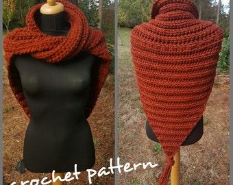 Infinity Cowl Shawl Crochet Pattern, Outlander shawl Crochet Pattern, Fantasy Shawl, Easy Shawl Crochet pattern, Infinity Cowl Pattern
