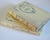 Decorative French books - 2 Nelson Editions with ornate cream covers Balzac and Greville