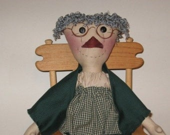 Primitive Granny Smith Doll Digital Pattern from Sew Practical, Mom and Pop Craft