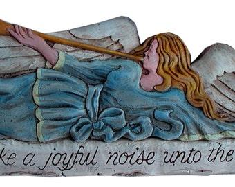 Angel Wall Decor Make A Joyful Noise Unto the Lord