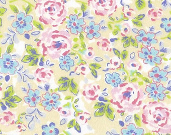 Snuggle Flannel Prints - Pastel Floral - 33 inches