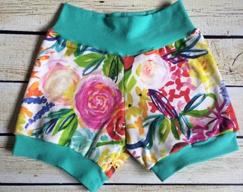 Organic Watercolor Flowers Sizes 0-3 M-6 Years. Baby Outfit Photo Prop Coming Home