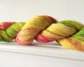 "Hand Dyed Single Merino Yarn ""Pick A Flower"" 100g 400 Yards Sock / Fingering"