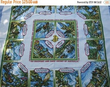 ON SALE On Sale - 1960s Vintage Australian Tablecloth the Discovery of Australia