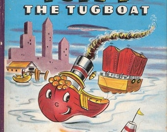 Tuffy the Tugboat Vintage Tell a Tale Book by Alice Sankey Illustrated by Ben Williams