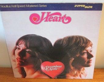 Heart Dreamboat Annie Half Speed  Master Recording LP Record Album 70s Classic rock Vinyl. Magic Man,  Crazy on You