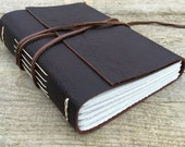 Go Confidently in the Direction of Your Dreams. Rustic Leather Journal, Sketch Book