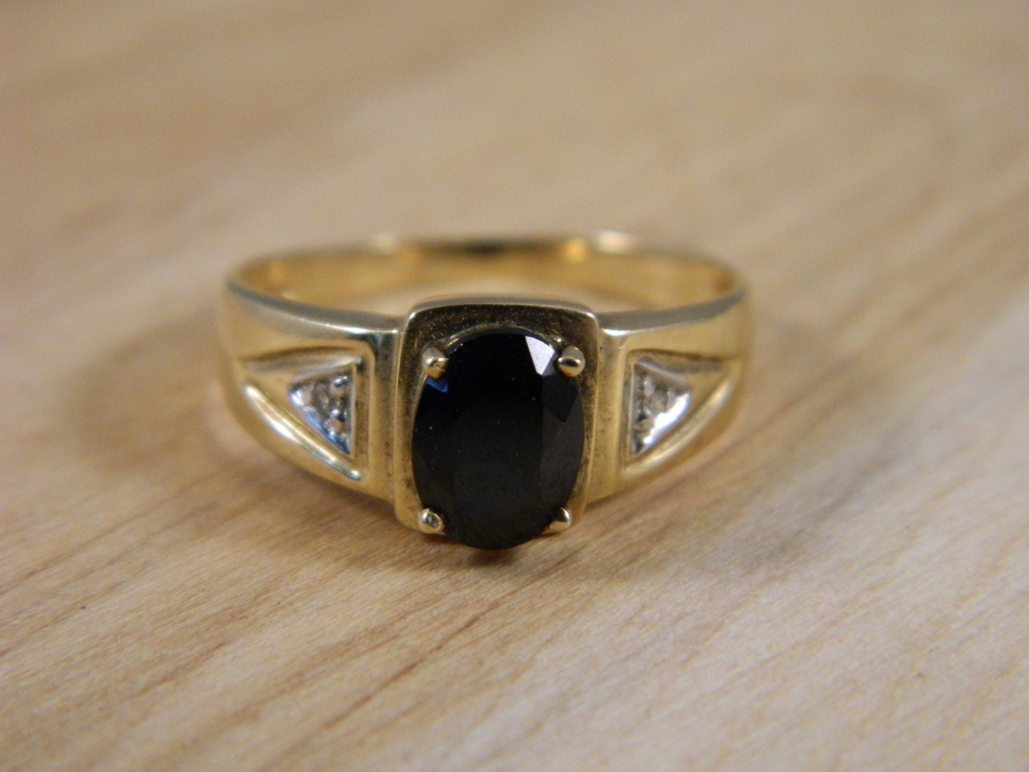 mens 10k gold wedding ring vintage yellow gold onyx and. Black Bedroom Furniture Sets. Home Design Ideas