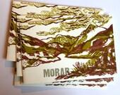 hand printed book Scotland 'Morar', hand pulled prints multicolor